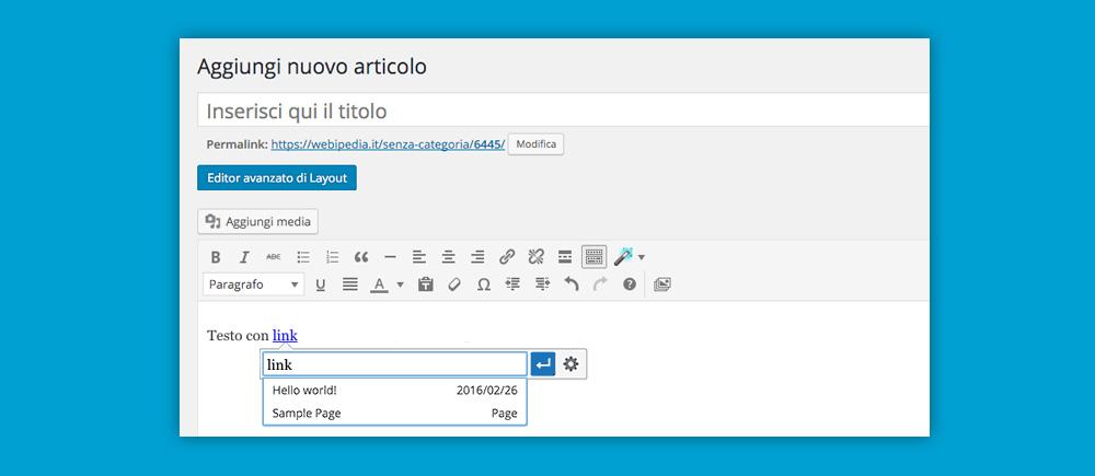 WordPress 4.5: link