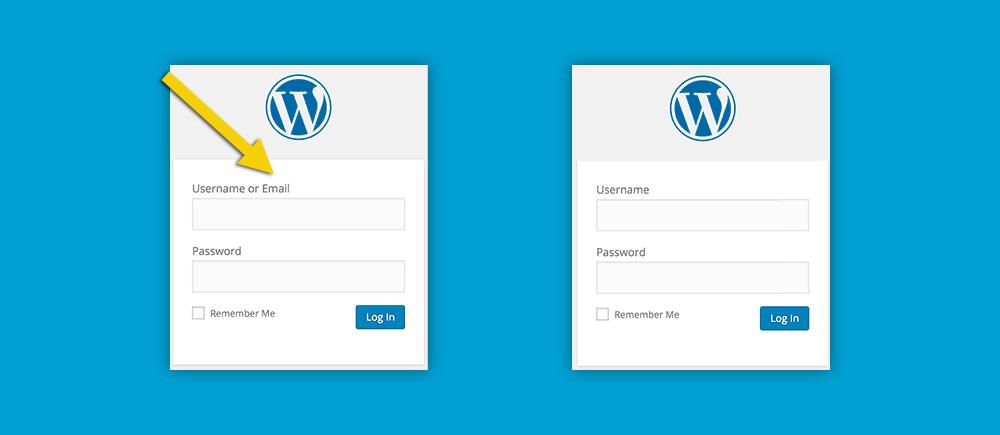 WordPress 4.5: login