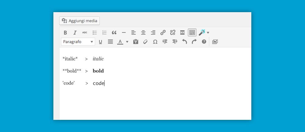 WordPress 4.5: testo-inline