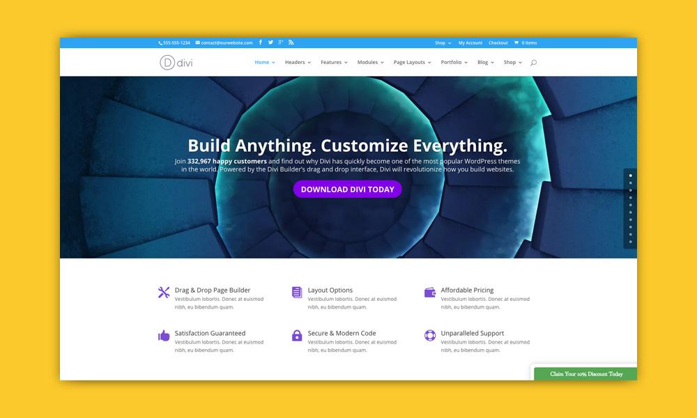 AdSense WordPress Temi: Divi