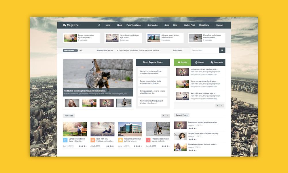 AdSense WordPress Temi: Magazine