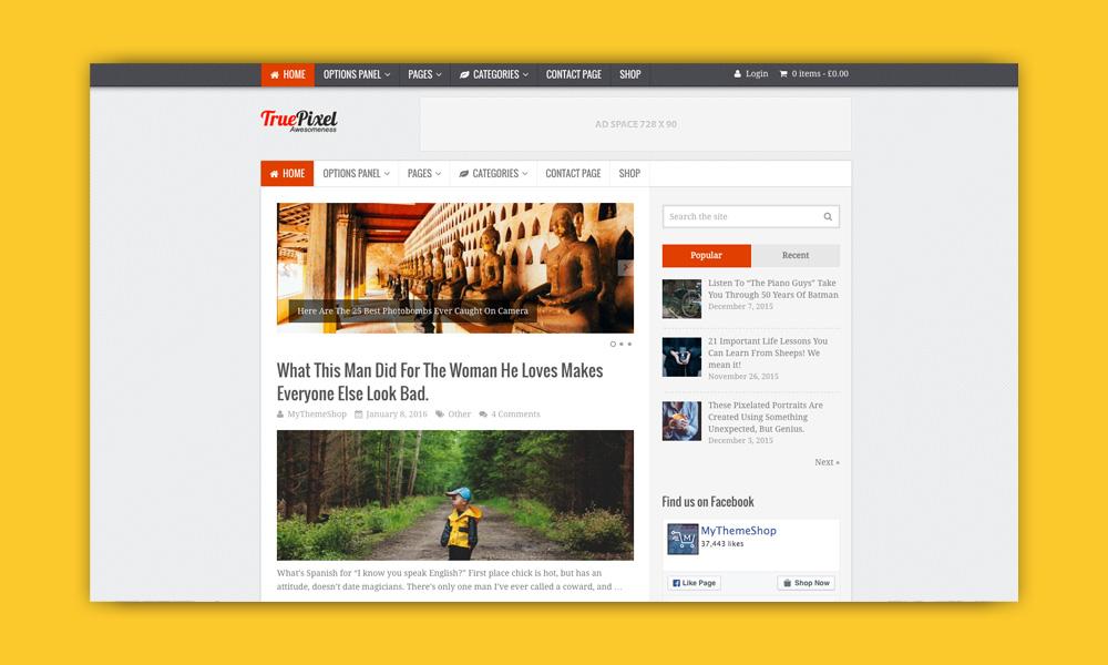 AdSense WordPress Temi: Truepixel