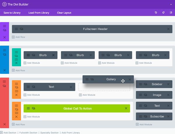 Miglior tema WordPress: Divi - layout builder