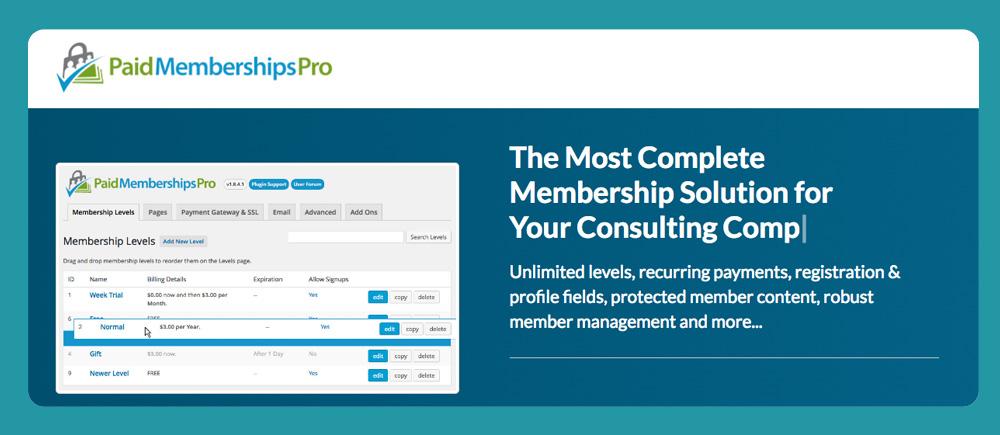 Wordpress Membership Plugin: Paid Membership Pro