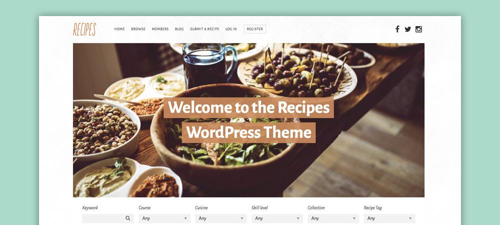 Tema blog di cucina: Recipes