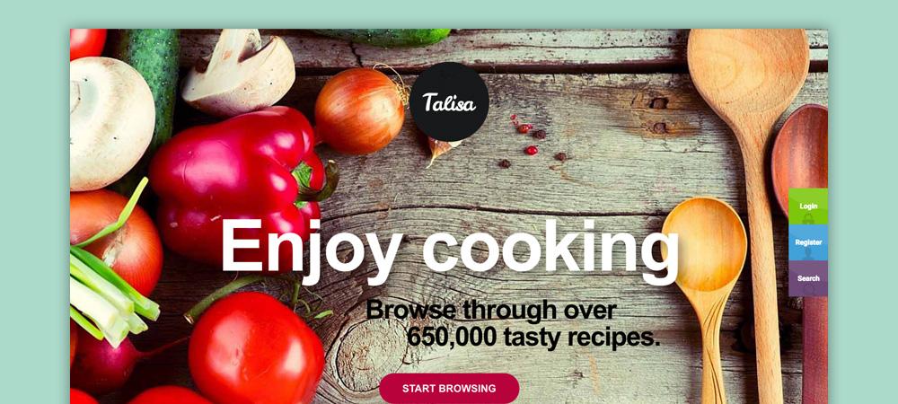 Tema blog di cucina: Talisa