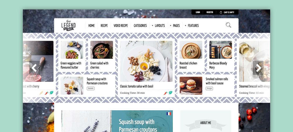 Tema blog di cucina: Neptune