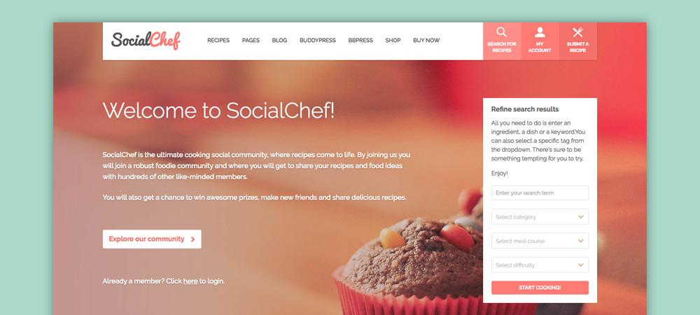 Tema Blog di Cucina: Social Chef