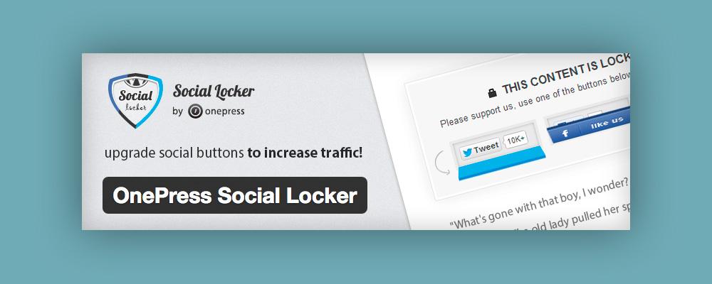 Aumentare Follower: onepress Social Locker