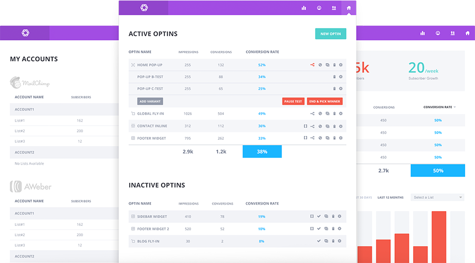 bloom: dashboard