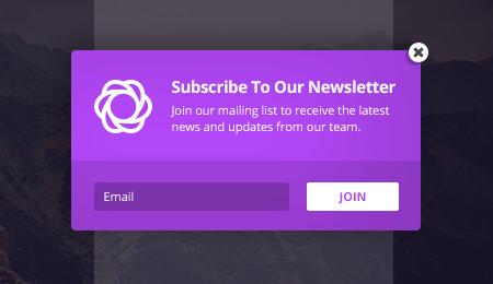Bloom email optin: popup