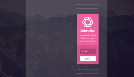 Bloom email optin: widget