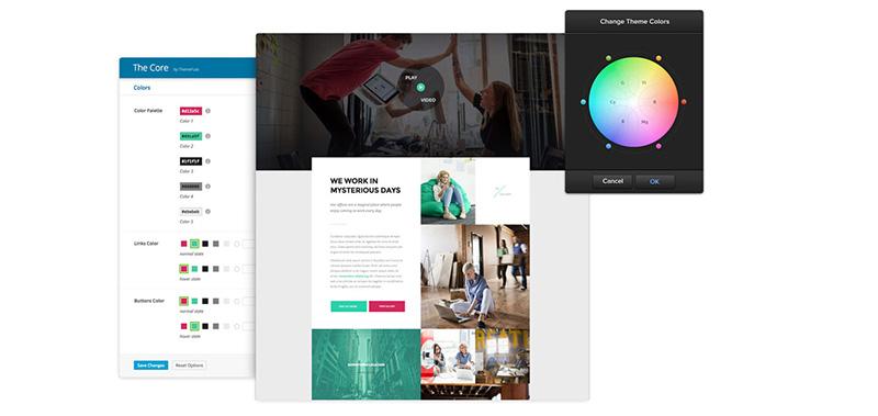 Tema The Core: colori