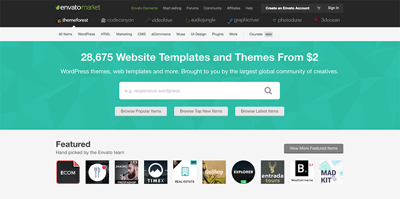 themeforest home