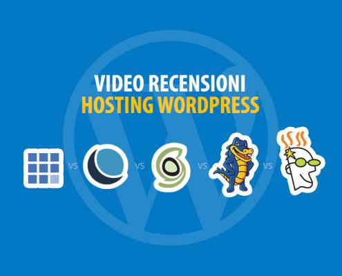 Hosting WordPress: video recensioni