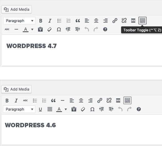 editor wordpress 4.7