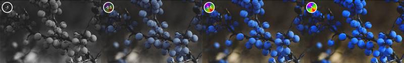 Regolare il livello di saturazione dei colori