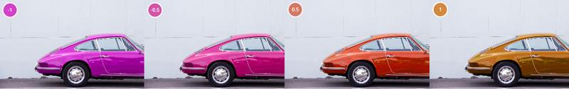 Cambiare la tinta cromatica a una immagine