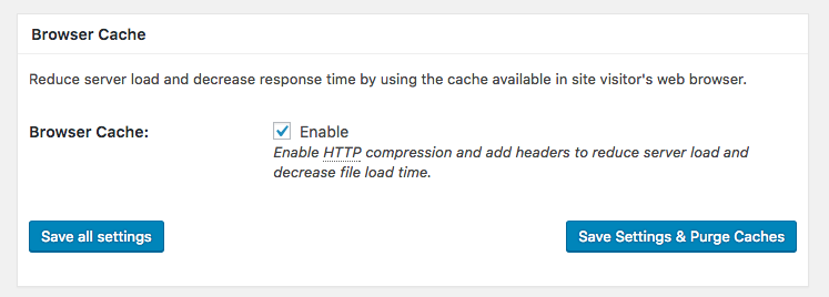 W3TC Browser Cache