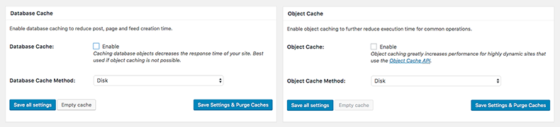 W3TC Database Object Cache