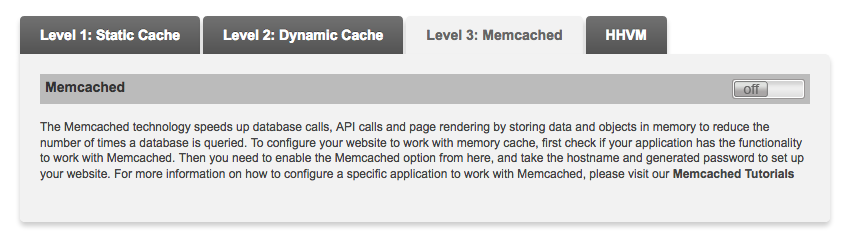 Memcached Activation