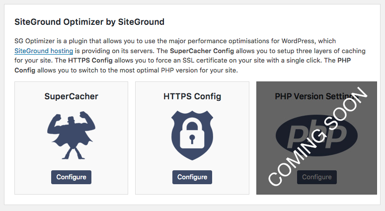 Siteground Optimizer