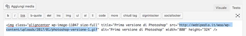URL immagini HTTPS