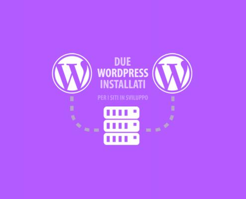 Due installazioni di WordPress stesso dominio e hosting