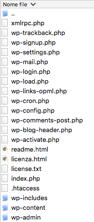 File di WordPress
