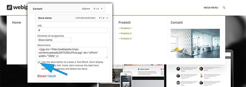 menu enfold con immagine