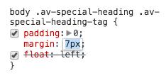 Modificare i CSS con l'inspector