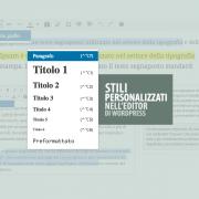 Stili CSS personalizzati nel editor di WordPress