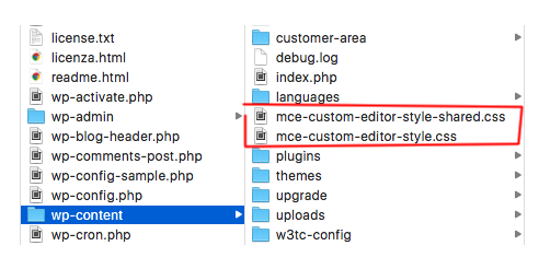 tinyMCE Custom CSS Files