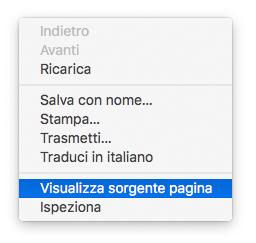 Visualizza Sorgente Pagina