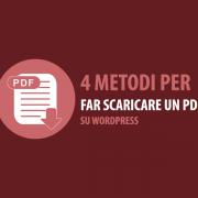 come far scaricare un pdf su wordpress