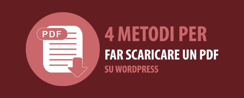 come far scaricare un pdf su wordpress