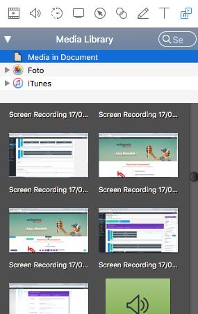 opzioni media library screenflow