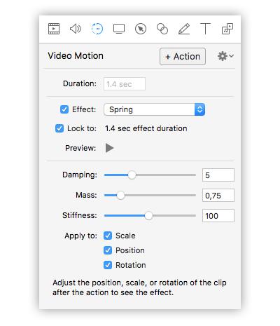 opzioni video motion screenflow