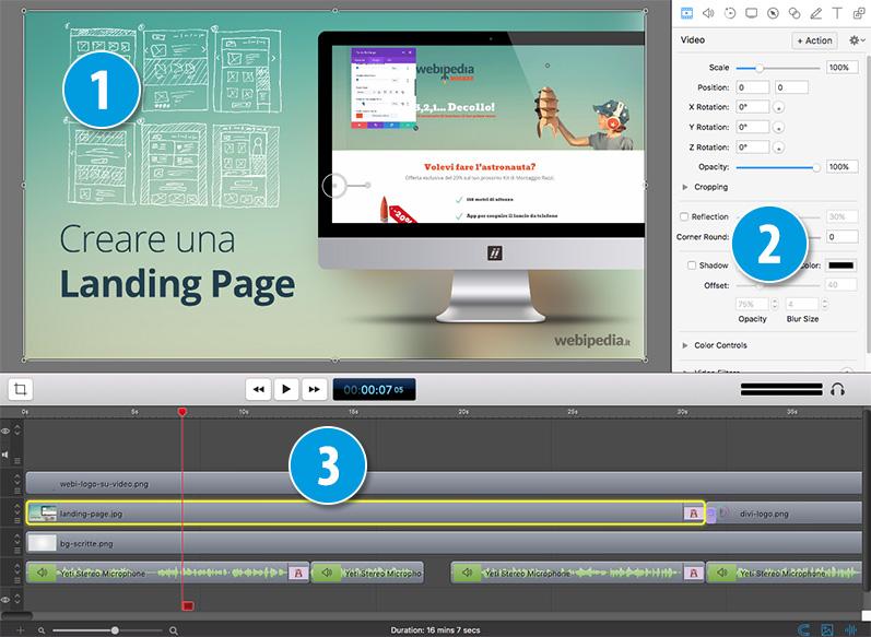 schermata screenflow