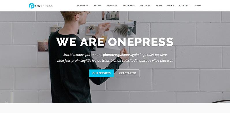 onepress tema wordpress