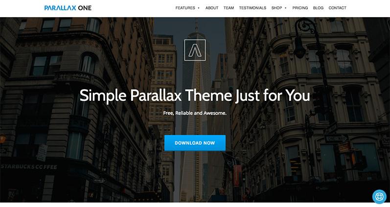 tema parallax one