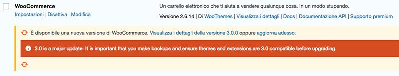 WooCommerce 3.0 aggiornamento