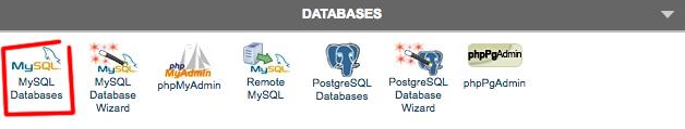 cPanel accesso ai database
