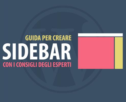 creare sidebar wordpress la guida degli esperti