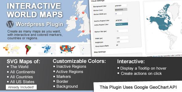 interactive world map plugin wordpress