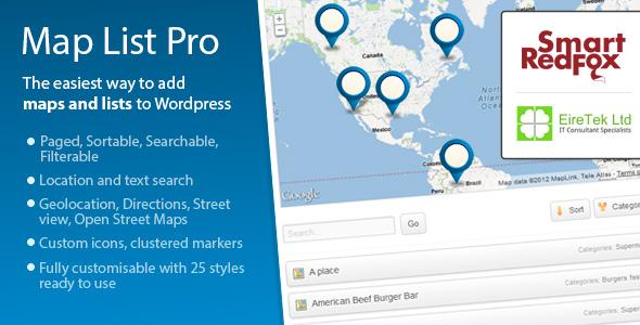 plugin map list pro