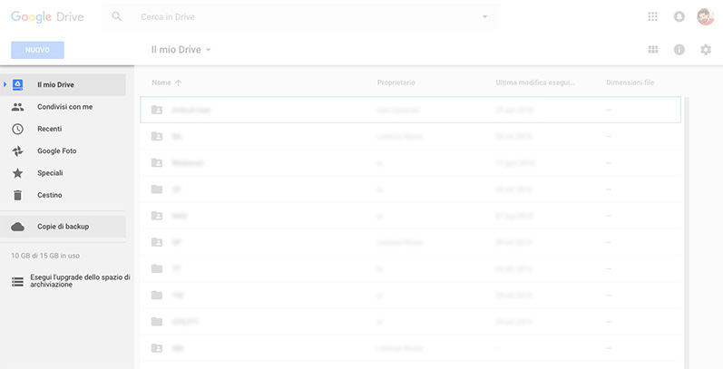 sidebar google drive