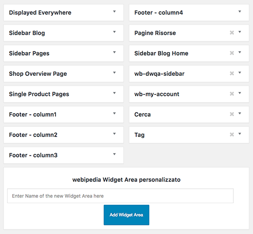 Creare Sidebar WordPress