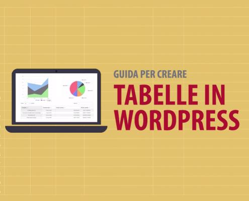 guida creare tabelle wordpress