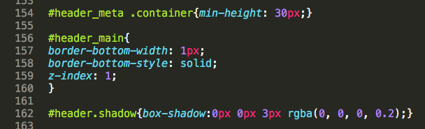 Editor CSS esempio